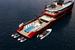 Яхта обладает самым большим в классе трехуровневым «пляжным клубом» площадью 200 кв. м