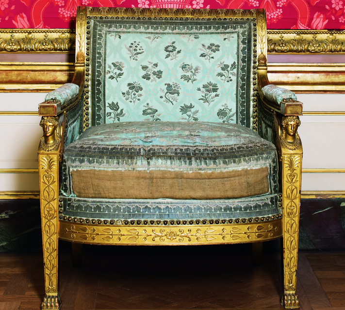 Кресло из пары, созданной Белланже для Наполеона II, 1814 г.