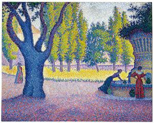 Поль Синьяк, «Сен-Тропе. Фонтан де Лис», 1895