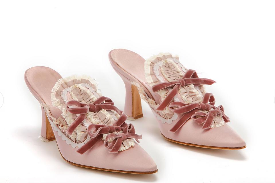 Туфли Antoinetta, созданные к фильму «Мария-Антуанетта», 2006 г. Сатин, вельвет, кожа, металл