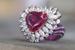 Кольцо c рубеллитом огранки «сердце» из коллекции Chopard Red Carpet 2017