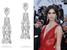 Модель Сара Сампайо в серьгах de Grisogono High Jewellery из белого золота и бриллиантов грушевидной огранки