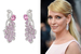 Актриса Ума Турман в серьгах Chaumet из коллекции Nature de Chaumet с бриллиантами и розовыми сапфирами