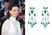 Актриса Жюльет Бинош в серьгах Chopard с бриллиантами и изумрудами из коллекции Red Carpet 2017