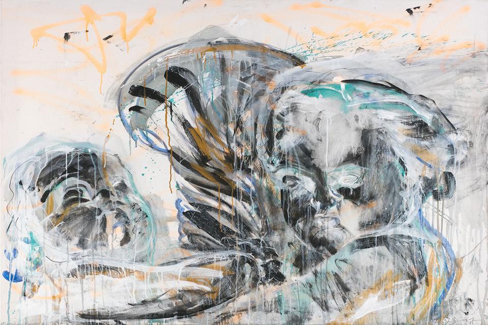 Валерий Кошляков, «Ангелы с факелом», 2001 г. Эстимейт ‒ €20-25 тыс.