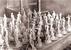 В мастерской ГФЗ им. Ломоносова - жанровая скульптура перед обжигом. 1932 год