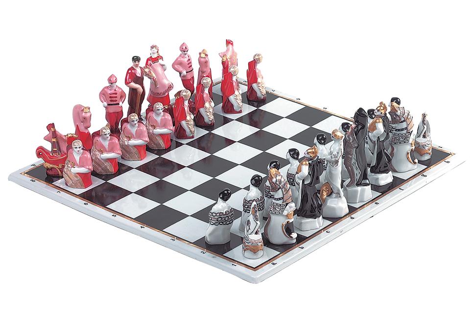 Шахматный набор «Красные и белые»
