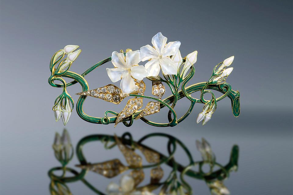 Украшение для корсажа, Rene Lalique, 1899–1901 гг.