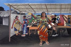 Шери Шеран (р. 1955). Продавщица тканей. Киншаса, 2002