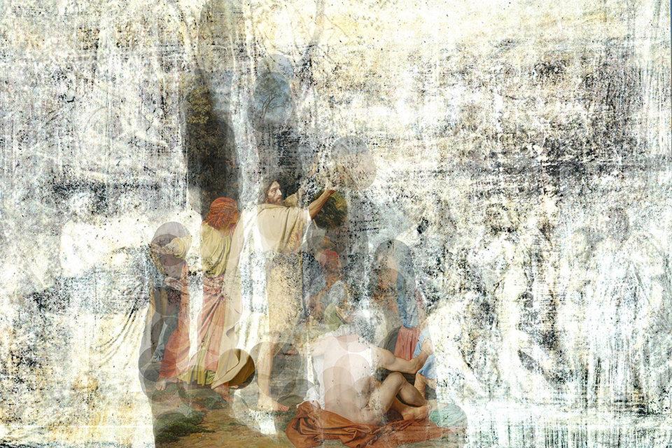 Фрагмент «живого полотна» Каплевича -  «капелена»