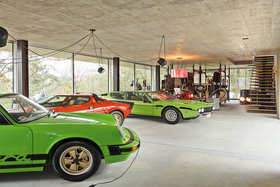 Модели из коллекции Давида Ольдера: Porsche Carrera 2.7, Lancia Stratos и Lamborghini Espada