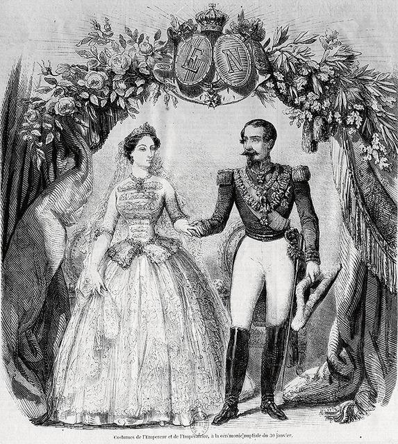 Портрет Наполеона III и императрицы Евгении