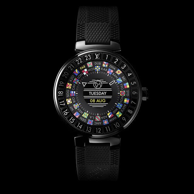 Свои первые «умные часы» Louis Vuitton решили поместить в круглый корпус модели Tambour, с которой в 2002 году и началась часовая сага Дома
