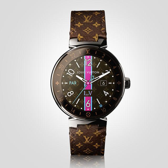 Часы представлены в трех вариантах дизайна – Graphite, Monogram и Black, в дополнение к ним прилагаются сменные ремешки – 30 мужских и столько же женских
