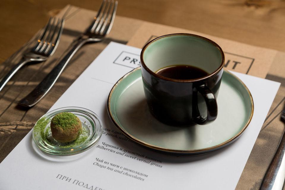 Чай из чаги с шоколадом