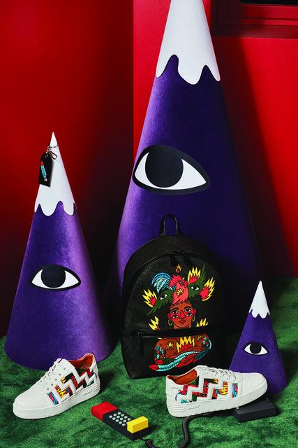 Коллекция получила название Bally x Swizz, за яркие принты отвечал испанский художник Рикардо Каволо