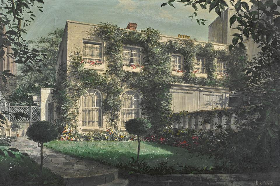 Картина Феликса Келли (1954 г.). На ней изображен дом Вивьен Ли – «Дарем-Коттедж»