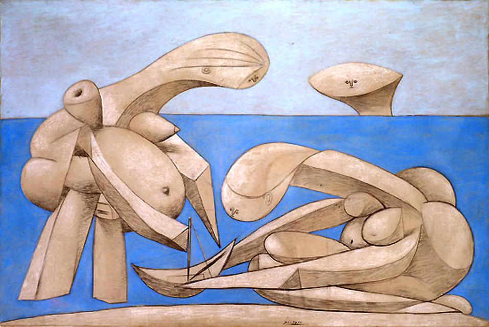 Пабло Пикассо «Купальщицы», 12 февраля 1937Коллекция Пегги Гуггенхайм