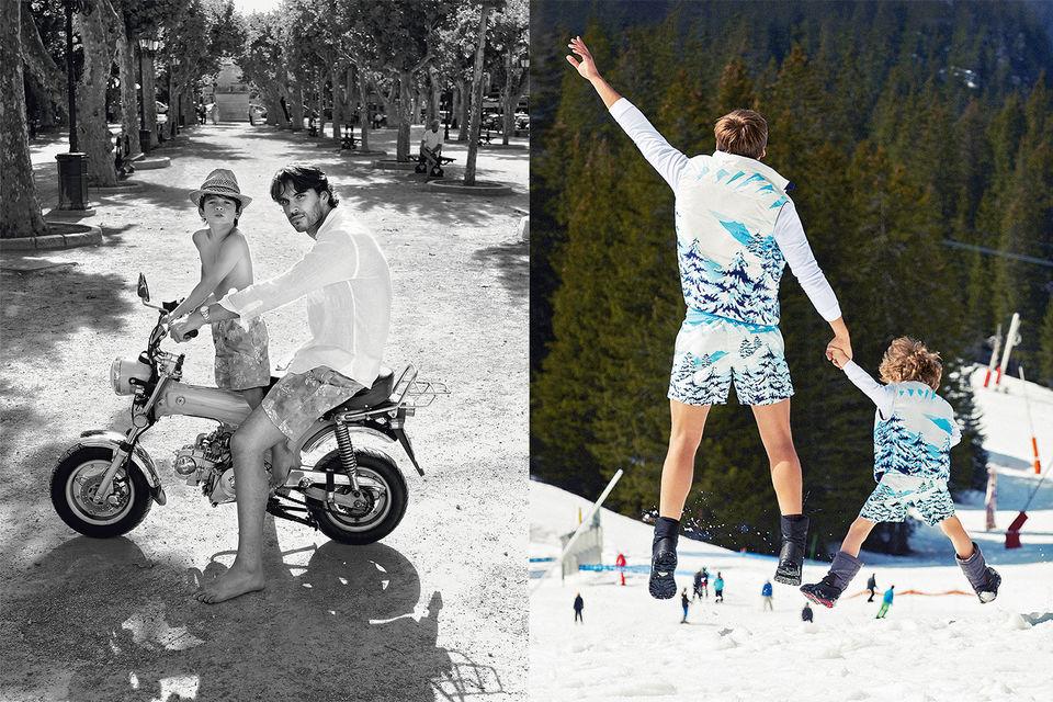 Слева - одна из ранних рекламных кампаний, справа – современный образ, посвященный осенне-зимней коллекции