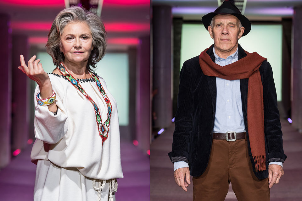 Женщины и мужчины от 50 лет продемонстрировали на подиуме актуальные сезонные  решения