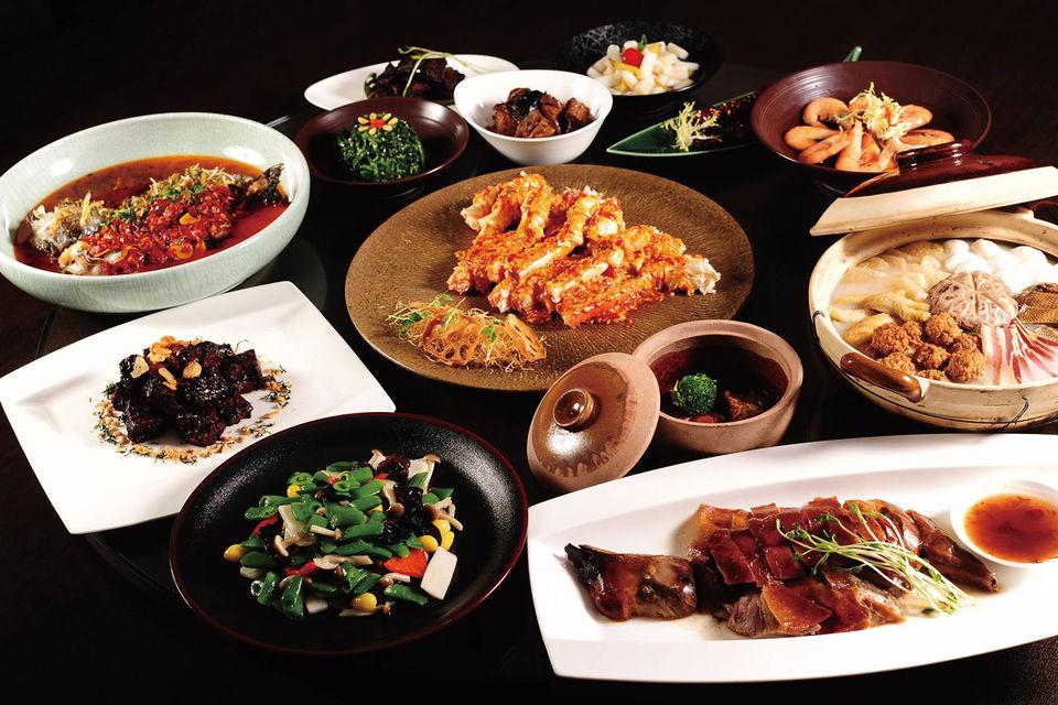 В ресторане отеля Jumeirah Himalayas Hotel Shanghai только блюда только с  лучшими органическими ингредиентами