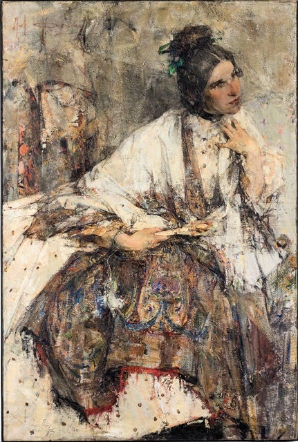 Портрет госпожи Сапожниковой (Н.Фешин)