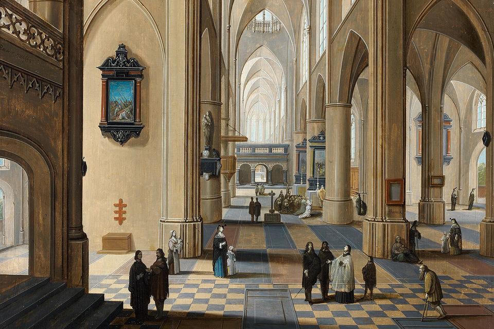 Галерея Costermans, картина фламандского художника Петера Неефе, 17 век