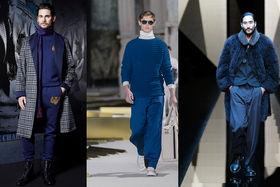 Синий цвет в осенне-зимних мужских коллекциях