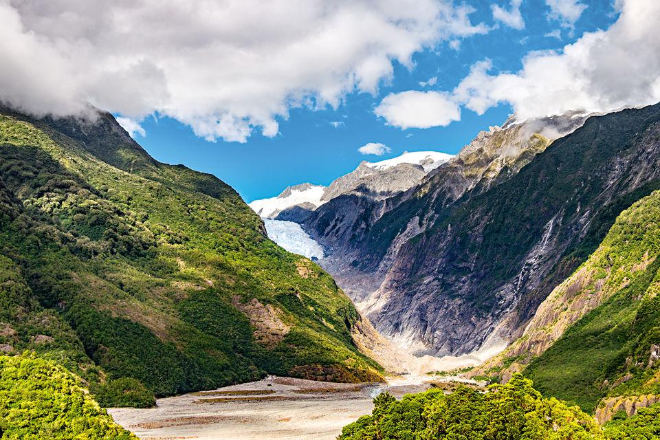 Ледник Франца-Иосифа раcположен на территории Национального парка Вестленд на Южном острове