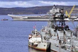 Авианосец «Адмирал Кузнецов» до конца января вернется домой в Североморск