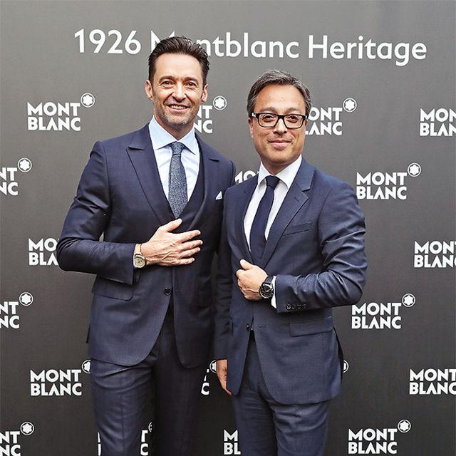 Посол марки актер Хью Джекман и Николя Барецки, глава Montblanc