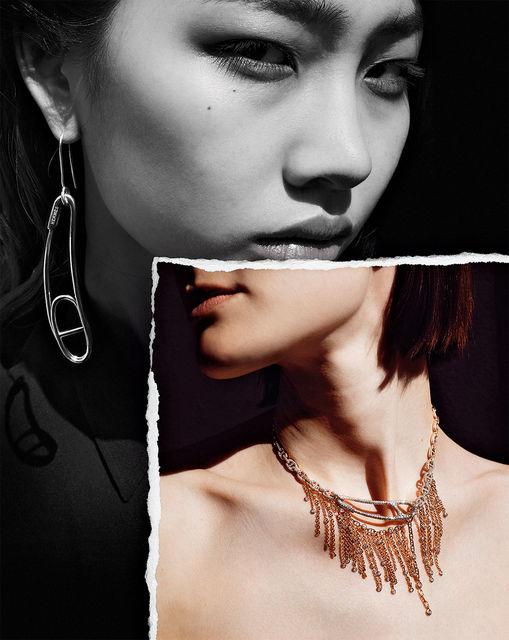 Модели в украшениях  из коллекции Chaine d'Ancre Punk