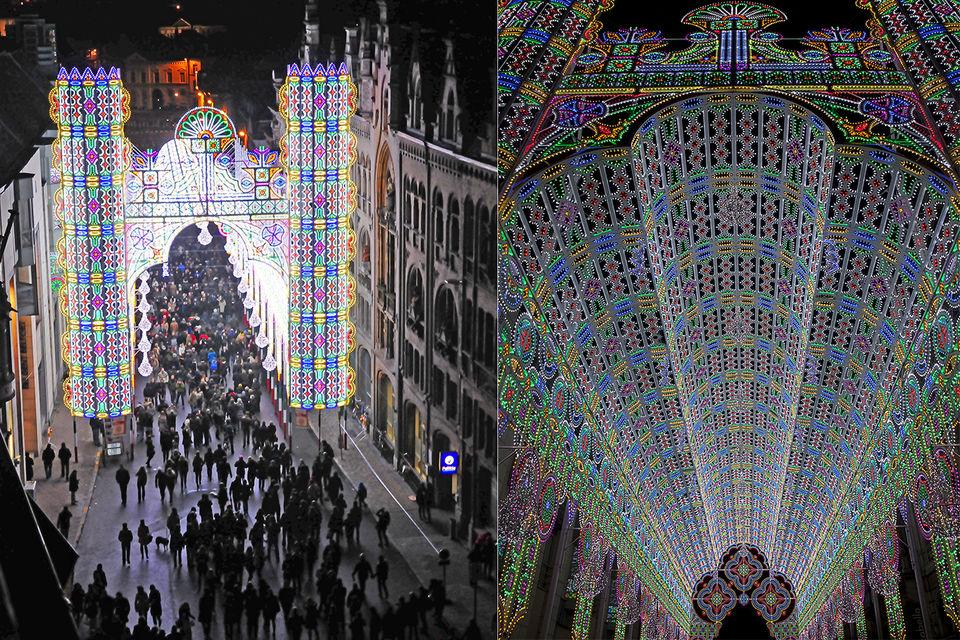 Собор, «построенный» из света компанией Luminaire De Cagna
