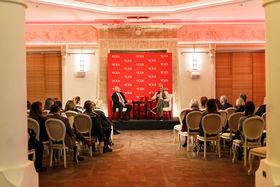 Презентация бренда и public talk прошли в Москве, в особняке Смирнова на Тверском бульваре