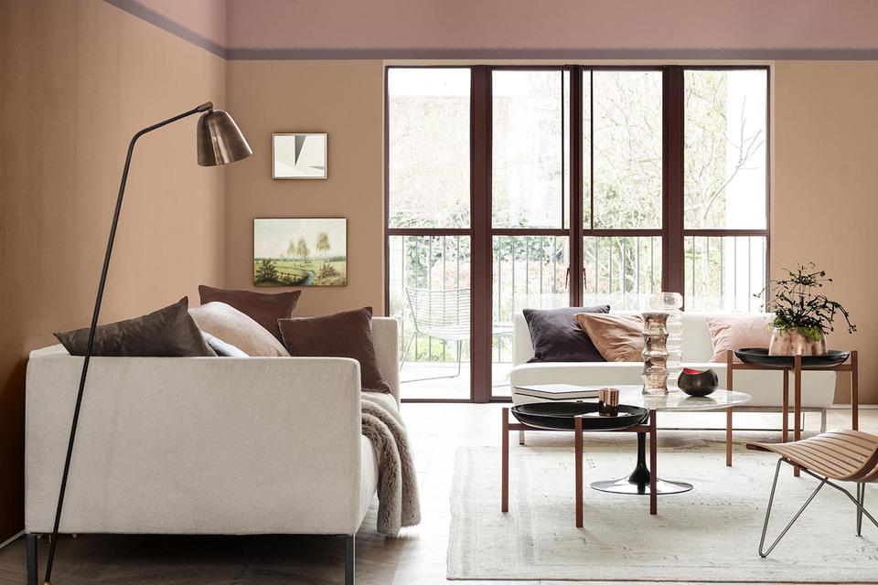 По мнению специалистов AkzoNobel, главным цветом 2018 года станет дымчато-розовый («Древесная аллюзия»)