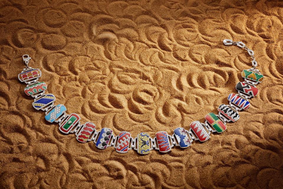 Колье Palio di Siena из элементов-гербов, эмали и бриллиантов из коллекции Festa, Bulgari