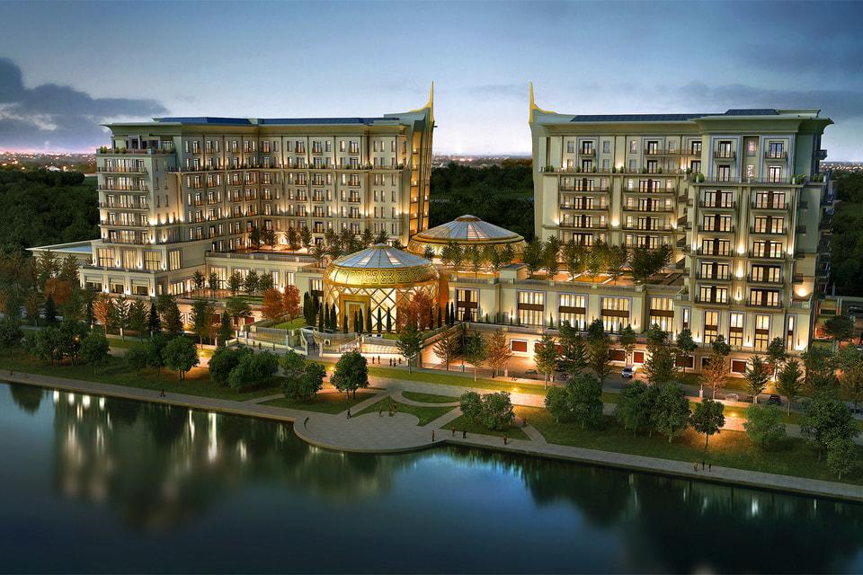 The St. Regis состоит из двух корпусов – отеля и резиденций