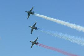 К операции были привлечены девять самолетов ВКС России, в том числе четыре бомбардировщика Су-24М, четыре штурмовика Су-25 (архивное фото) и бомбардировщик Су-34