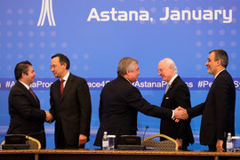 Итогом переговоров стало заявление трех стран, в котором говорится о необходимости создания механизма для начала трехстороннего мониторинга соблюдения режима прекращения огня