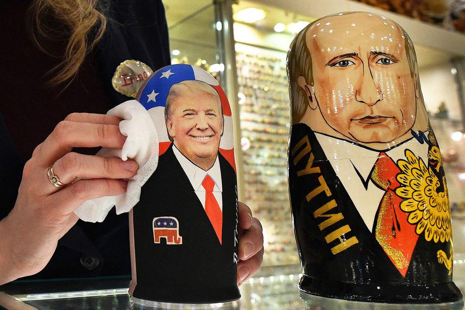 Глядя на Дональда Трампа (слева), можно представить себе характеристики политического противника Владимира Путина