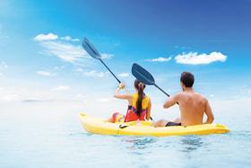 Прогулка на надувной лодке - одно из популярнейших развлечений при отеле