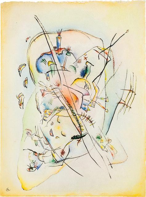 Картина  «Без названия» оценивается  в £350 000–550 000