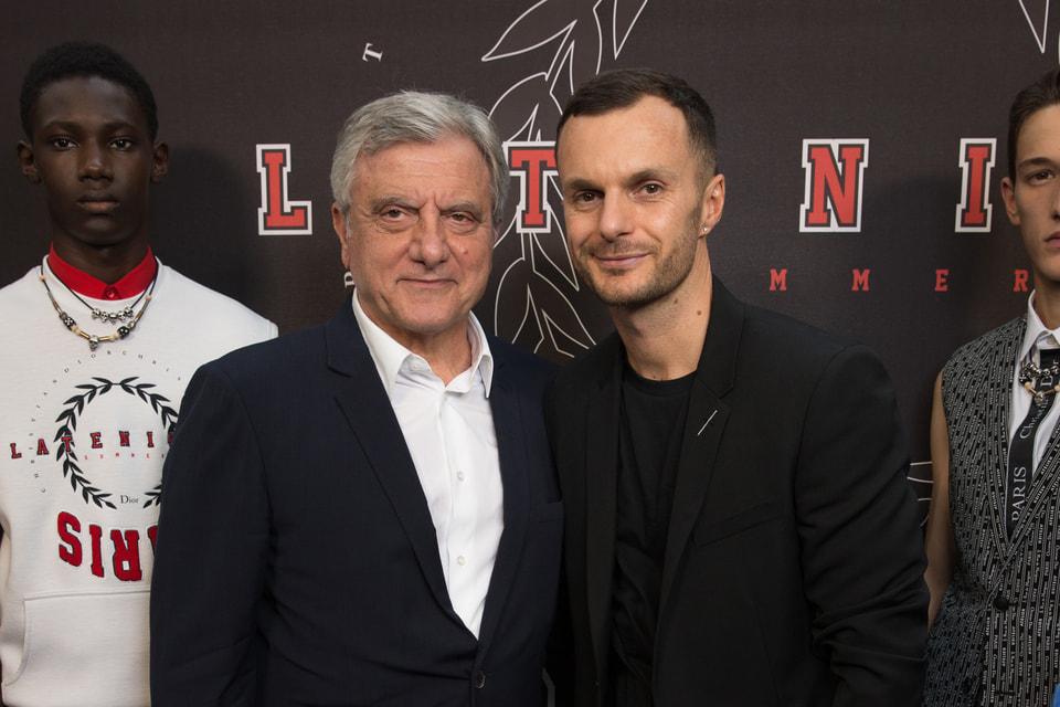 Бывший президент Dior Couture Сидни Толедано и Крис ван Аш