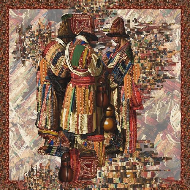 Платки созданы по мотивам картин Василия Верещагина