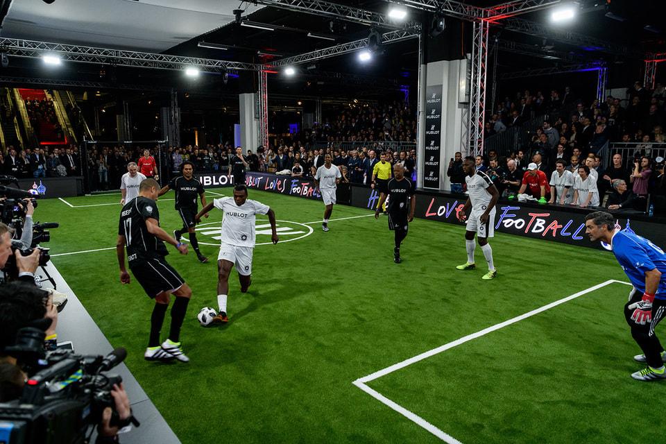 Дружеский футбольный матч Hublot Match of Friendship состоялся на часовом салоне Baselworld 2018