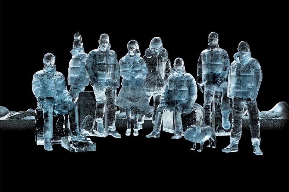 Проект Moncler Genius объединяет в себе работы восьми выдающихся дизайнеров мира, о чем можно догадаться по числу фигур, выполненных из льда