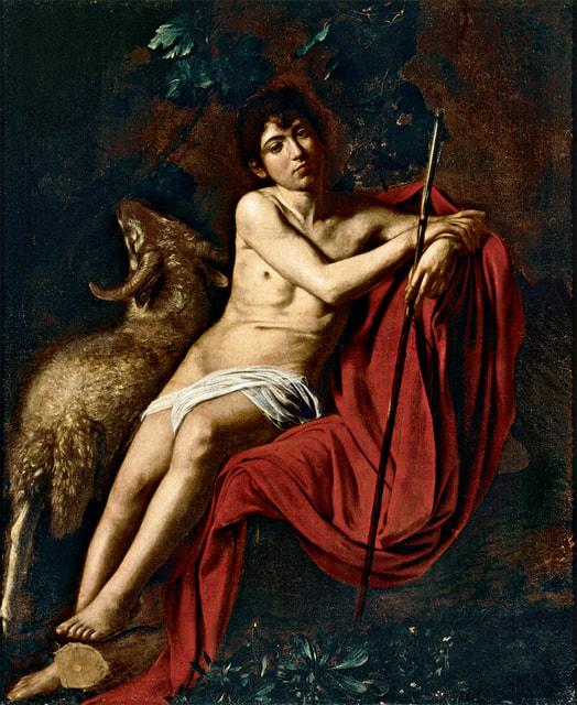 Считается, что «Иоанн Креститель» был одной из трех картин, которые Караваджо вез в Рим