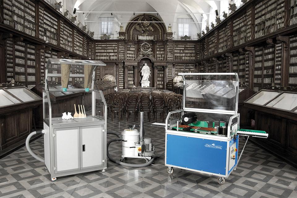 Машины для чистки книг: Laura и Depulvera подходят для публичных библиотек, а компактную Pulvisina вполне можно держать и дома