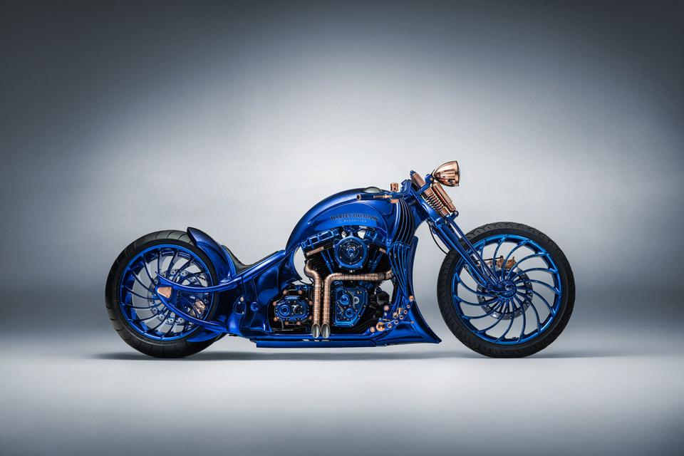 Harley-Davidson Blue Edition стоит 1,888 миллионов швейцарских  франков и на сегодняшний день является самым дорогим мотоциклом в мире