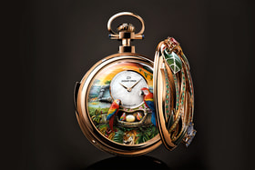 Jaquet Droz. Parrot Repeater Pocket Watch